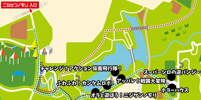 マップ クレヨンしんちゃんアドベンチャーパーク