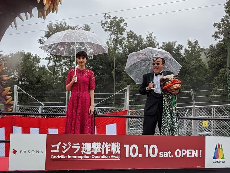 山崎紘菜さんトークセッション ゴジラ完成披露