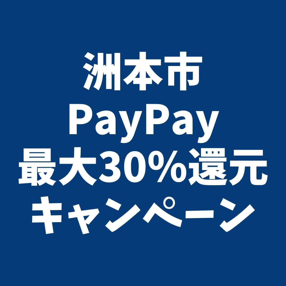 PayPay(ペイペイ)最大30%還元キャンペーン 洲本市